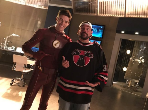 The Flash_Kevin Smith and Grant Gustin