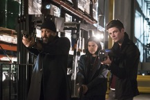 "The Flash -- ""Back to Normal"" -- Image: FLA219a_0085b.jpg -- Pictured (L-R): Jesse L. Martin as Detective Joe West, Carlos Valdes as Cisco Ramon and Grant Gustin as Barry Allen-- Photo: Katie Yu/The CW -- © 2016 The CW Network, LLC. All rights reserved."