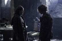 Gemma Whelan as Yara Greyjoy and Alfie Allen as Theon Greyjoy Credit: Helen Sloan/HBO
