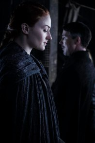 "Sophie Turner as Sansa Stark and Aidan Gillen as Petyr ""Littlefinger"" Baelish. Credit: Helen Sloan/HBO"