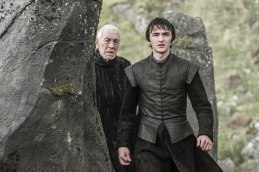 Isaac Hempstead Wright as Bran Stark and Max von Sydow as the Three-Eyed Raven. Photo: HBO