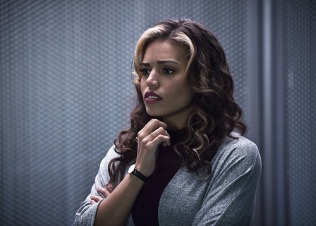 """DC's Legends of Tomorrow -- """"Destiny""""-- Image LGN115a_0162b.jpg -- Pictured: Ciara Renee as Kendra Saunders/Hawkgirl -- Photo: Cate Cameron/The CW -- © 2016 The CW Network, LLC. All Rights Reserved"""