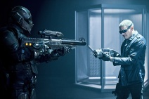 """DC's Legends of Tomorrow -- """"Destiny""""-- Image LGN115a_0045b.jpg -- Pictured (L-R): Chronos and Wentworth Miller as Leonard Snart/Captain Cold -- Photo: Cate Cameron/The CW -- © 2016 The CW Network, LLC. All Rights Reserved."""