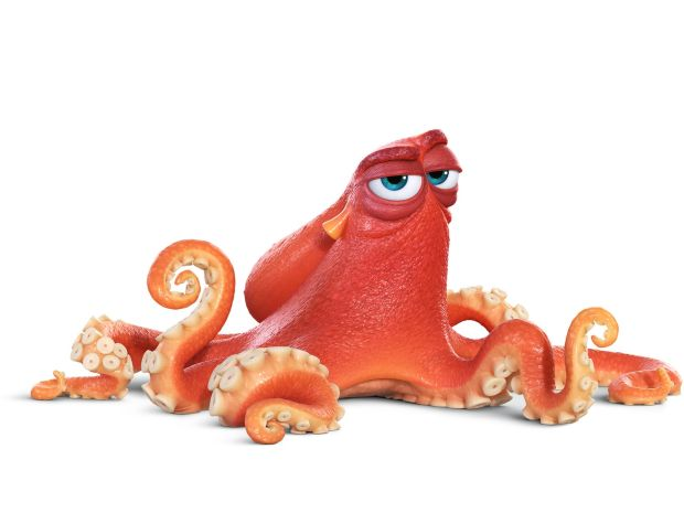 "HANK (voice of Ed O'Neill) is an octopus. Actually, he's a ""septopus"": he lost a tentacle—along with his sense of humor—somewhere along the way. But Hank is just as competent as his eight-armed peers. An accomplished escape artist with camouflaging capabilities to boot, Hank is the first to greet Dory when she finds herself in the Marine Life Institute. But make no mistake: he's not looking for a friend. Hank is after one thing—a ticket on a transport truck to a cozy Cleveland facility where he'll be able to enjoy a peaceful life of solitude."