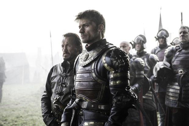 Jerome Flynn as Bronn and Nikolaj Coster-Waldau as Jaime Lannister. Credit: Helen Sloan /HBO