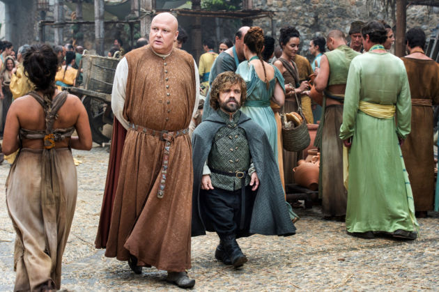 nleth Hill as Varys and Peter Dinklage as Tyrion Lannister Credit: Macall B. Polay/HBO