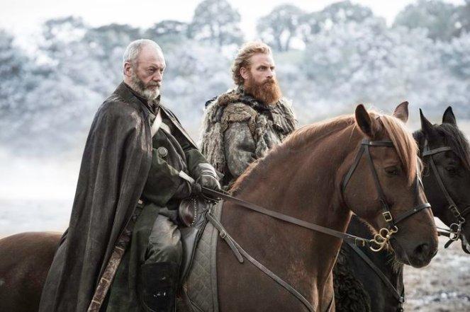 Liam Cunningham as Davos Seaworth and Kristofer Hivju as Tormund Giantsbane