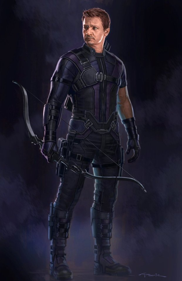 """Concept art versions I painted up for #Hawkeye on #CaptainAmericaCivilWar (Tactical & Ultimates look)"""