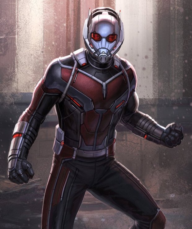 """My fav part of #CaptainAmericaCivilWar was designing #AntMan Updating him after designing the original was a treat"""