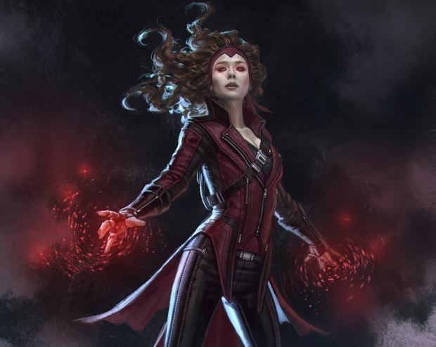 """#ScarletWitch concept art I did for #CaptainAmericaCivilWar With & w/o headband #elizabetholsen #marvel"""