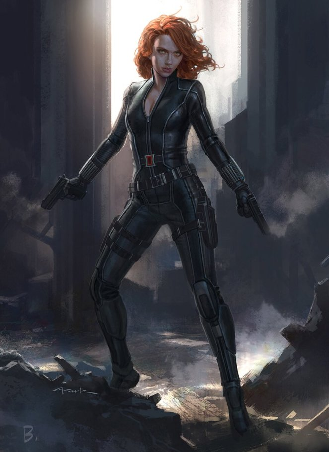 here's the #BlackWidow I concepted for #CaptainAmericaCivilWar #ScarlettJohansson #Marvel #TeamIronMan & #TeamCap
