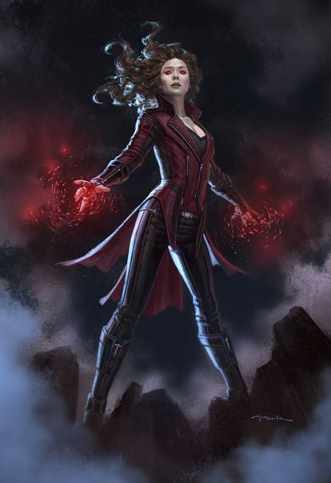 """#ScarletWitch concept art I did for #CaptainAmericaCivilWar With & w/o headband #elizabetholsen #marvel"""