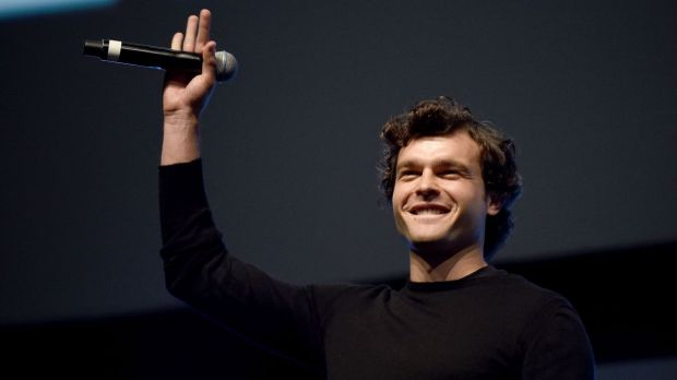 LONDON, ENGLAND - JULY 17: Alden Ehrenreich, who will play Han Solo, on stage during Future Directors Panel at the Star Wars Celebration 2016 at ExCel on July 17, 2016 in London, England. (Photo by Ben A. Pruchnie/Getty Images for Walt Disney Studios)