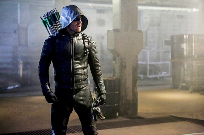 "Arrow -- ""Legacy"" -- Image AR501c_0161b --- Pictured: Stephen Amell as Green Arrow -- Photo: Bettina Strauss/The CW -- © 2016 The CW Network, LLC. All Rights Reserved."