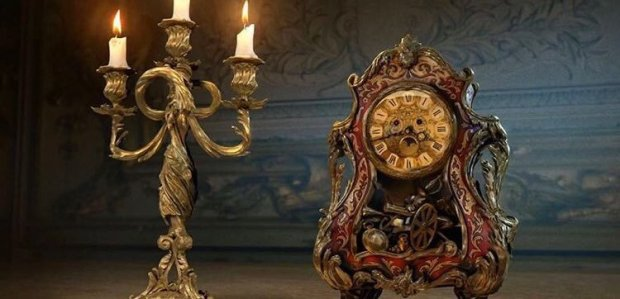 Beauty and the Beast_First Look_Lumiere and Cogsworth