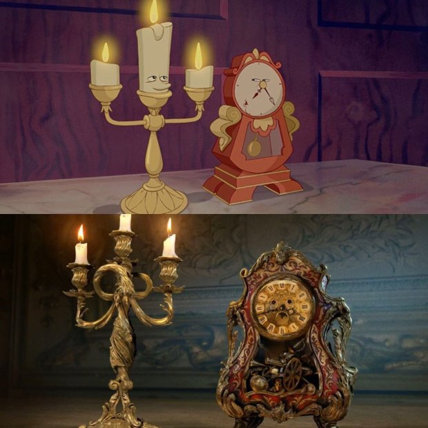 Beauty and the Beast_First Look_Lumiere and Cogsworth2