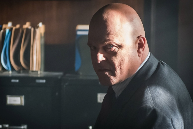 "GOTHAM:  Michael Chiklis in the ""Mad City: Better to Reign in Hell…"" season premiere episode of GOTHAM airing airing Monday, Sept. 19 (8:00-9:01 PM ET/PT) on FOX.  ©2015 Fox Broadcasting Co. Cr: Jeff Neumann/FOX."
