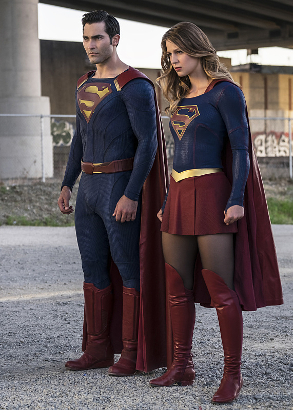 "Supergirl -- ""The Last Children of Krypton"" -- Image SPG202a_0171-- Pictured (L-R): Tyler Hoechlin as Clark/Superman and Melissa Benoist Kara/Supergirl -- Photo: Robert Falconer/The CW -- © 2016 The CW Network, LLC. All Rights Reserved"