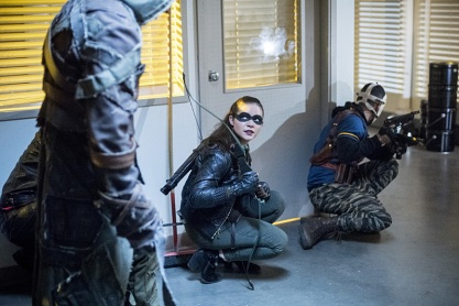 """Arrow -- """"Penance"""" -- Image AR504a_0375b.jpg -- Pictured (L-R): Madison McLaughlin as Evelyn Sharp and Rick Gonzales as Rene Ramirez/Wild Dog -- Photo: Dean Buscher/The CW -- © 2016 The CW Network, LLC. All Rights Reserved."""