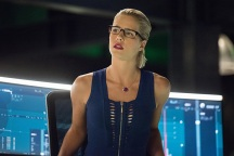 "Arrow -- ""Human Target"" -- Image AR505a_0145.jpg -- Pictured: Emily Bett Rickards as Felicity Smoak -- Photo: Dean Buscher/The CW -- © 2016 The CW Network, LLC. All Rights Reserved."