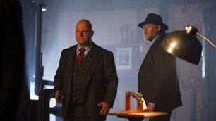 "GOTHAM: L-R: Michael Chiklis and Donal Logue in the ""Mad City: Follow the White Rabbit"" episode of GOTHAM airing Monday, Oct. 24 (8:00-9:01 PM ET/PT) on FOX. ©2016 Fox Broadcasting Co. Cr: Nicole Rivelli/FOX."
