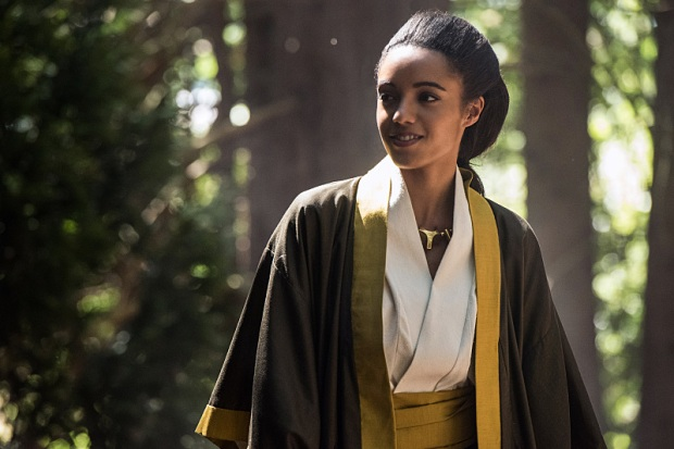 "DC's Legends of Tomorrow --""Shogun""-- Image LGN203b_0069.jpg -- Pictured: Maisie Richardson- Sellers as Amaya Jiwe/Vixen -- Photo: Dean Buscher/The CW -- © 2016 The CW Network, LLC. All Rights Reserved."