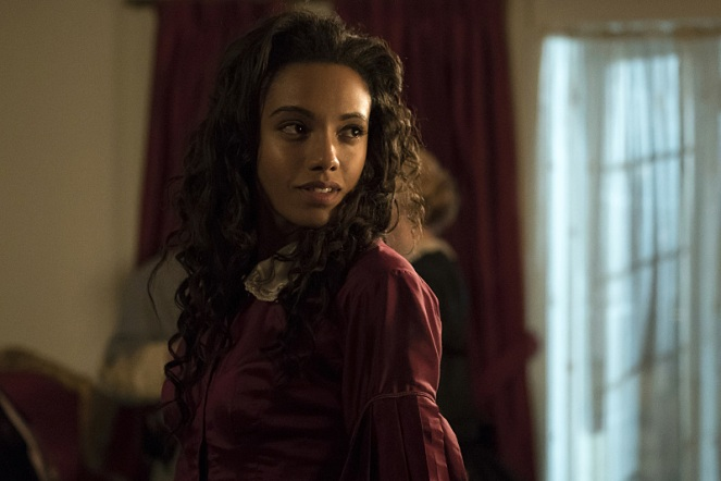 "DC's Legends of Tomorrow --"" Abominations""-- Image LGN204a_0139.jpg -- Pictured: Maisie Richardson- Sellers as Amaya Jiwe/Vixen -- Photo: Katie Yu/The CW -- © 2016 The CW Network, LLC. All Rights Reserved."