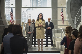 "Supergirl -- ""Welcome to Earth"" -- Image SPG203c_0309 -- Pictured: Lynda Carter as President Olivia Marsdin -- Photo: Diyah Pera/The CW -- © 2016 The CW Network, LLC. All Rights Reserved"