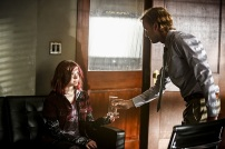 "The Flash -- ""Magenta"" -- Image: FLA303b_0082b.jpg -- Pictured (L-R): Joey King as Frankie Kane and Tom Felton as Julian Albert -- Photo: Bettina Strauss/The CW -- © 2016 The CW Network, LLC. All rights reserved."