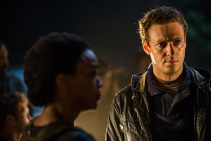 Ross Marquand as Aaron, Sonequa Martin-Green as Sasha Williams - The Walking Dead _ Season 7, Episode 1 - Photo Credit: Gene Page/AMC