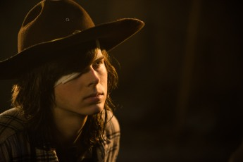 Chandler Riggs as Carl Grimes - The Walking Dead _ Season 7, Episode 1 - Photo Credit: Gene Page/AMC