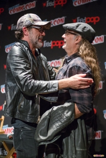 Pictured: Jeffrey Dean Morgan and Greg Nicotero. © 2016 GiGi Carrascosa/We Geek Girls. All rights reserved.
