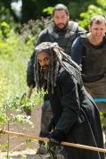 Khary Payton as Ezekiel, Karl Makinen as Richard, Cooper Andrews as Jerry- The Walking Dead _ Season 7, Episode 2 - Photo Credit: Gene Page/AMC