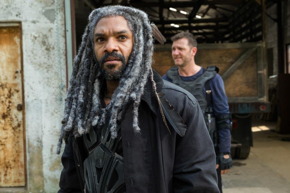 Khary Payton as Ezekiel, Karl Makinen as Richard- The Walking Dead _ Season 7, Episode 2 - Photo Credit: Gene Page/AMC