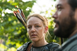 Cooper Andrews as Jerry, Kerry Cahill as Dianne- The Walking Dead _ Season 7, Episode 2 - Photo Credit: Gene Page/AMC