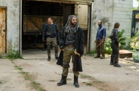 Khary Payton as Ezekiel, Lennie James as Morgan Jones, Karl Makinen as Richard, Logan Miller as Benjamin - The Walking Dead _ Season 7, Episode 2 - Photo Credit: Gene Page/AMC
