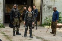 Khary Payton as Ezekiel, Lennie James as Morgan Jones, Karl Makinen as Richard, Logan Miller as Benjamin- The Walking Dead _ Season 7, Episode 2 - Photo Credit: Gene Page/AMC