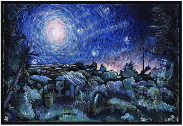 art-of-more-daniel-nash-poster-posse-harvest-moon
