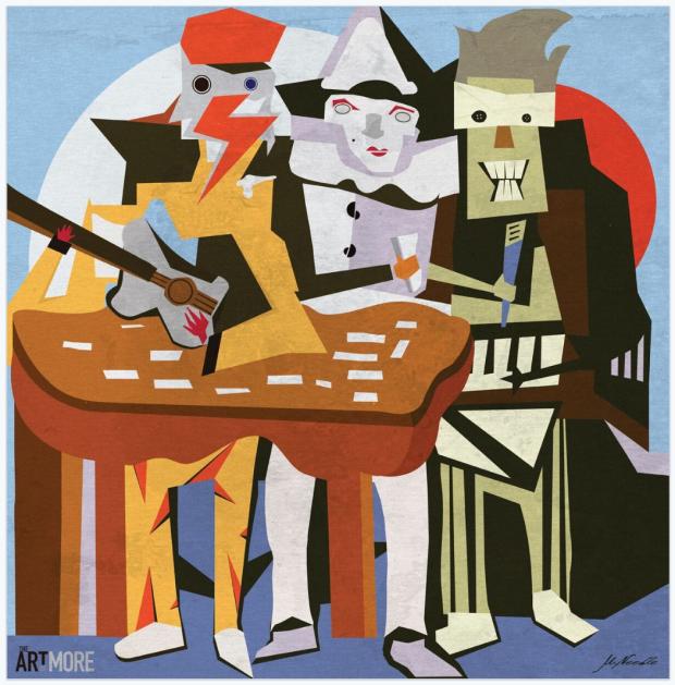 art-of-more-matt-needle-poster-posse-three-white-dukes