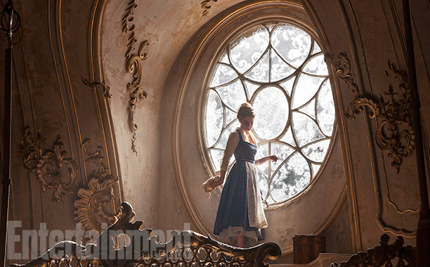 Beauty and the Beast (2017) Belle (Emma Watson) in the Ballroom of the Beast's castle.