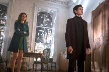 "GOTHAM: L-R: Guest star Maggie Geha and David Mazouz in the ""Mad City: Executioner"" episode of GOTHAM airing Monday, Nov. 14 (8:00-9:01 PM ET/PT) on FOX. ©2016 Fox Broadcasting Co. Cr: Jeff Neumann/FOX"