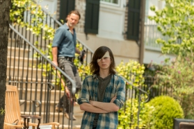 Chandler Riggs as Carl Grimes, Andrew Lincoln as Rick Grimes- The Walking Dead _ Season 7, Episode 4 - Photo Credit: Gene Page/AMC