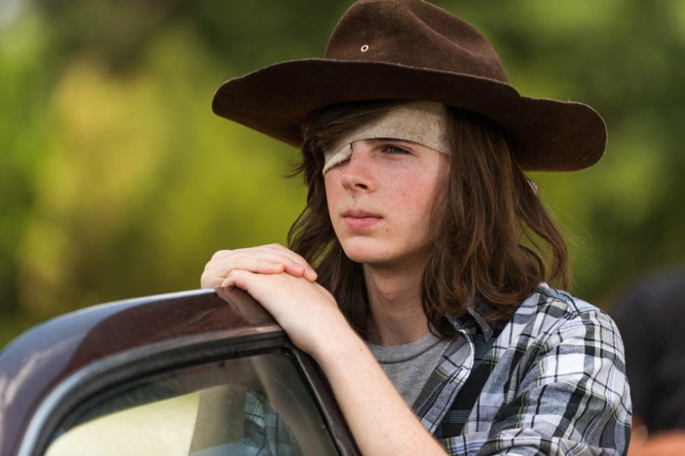 Chandler Riggs as Carl Grimes- The Walking Dead _ Season 7, Episode 5 - Photo Credit: Gene Page/AMC