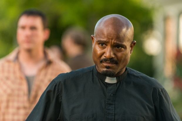 Seth Gilliam as Father Gabriel Stokes - The Walking Dead _ Season 7, Episode 8 - Photo Credit: Gene Page/AMC
