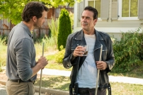 Jeffrey Dean Morgan as Negan, Austin Nichols as Spencer Monroe - The Walking Dead _ Season 7, Episode 8 - Photo Credit: Gene Page/AMC