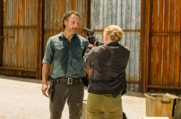 Andrew Lincoln as Rick Grimes, Lindsley Register as Laura- The Walking Dead _ Season 7, Episode 8 - Photo Credit: Gene Page/AMC