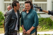 Josh McDermitt as Dr. Eugene Porter, Jeffrey Dean Morgan as Negan - The Walking Dead _ Season 7, Episode 8 - Photo Credit: Gene Page/AMC
