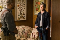 Lennie James as Morgan Jones, Melissa McBride as Carol Peletier - The Walking Dead _ Season 7, Episode 8 - Photo Credit: Gene Page/AMC
