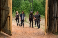 Christian Serratos as Rosita Espinosa, Chandler Riggs as Carl Grimes, Danai Gurira as Michonne, Alanna Masterson as Tara Chambler, Andrew Lincoln as Rick Grimes - The Walking Dead _ Season 7, Episode 8 - Photo Credit: Gene Page/AMC
