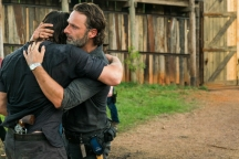 Andrew Lincoln as Rick Grimes, Norman Reedus as Daryl Dixon- The Walking Dead _ Season 7, Episode 8 - Photo Credit: Gene Page/AMC